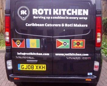 Roti Kitchen - van artwork - back