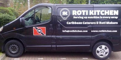 Roti Kitchen - van artwork - passengers side