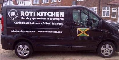 roti kitchen - van artwork - drivers side